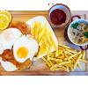 Kotlet schabowy Wiejski - Schnitzel met spiegel ei